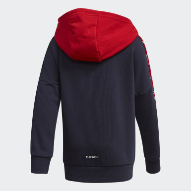 Branded Knit Jacket Niebieski