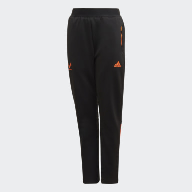 Boys Training Black Football-Inspired Messi AEROREADY Warming Joggers