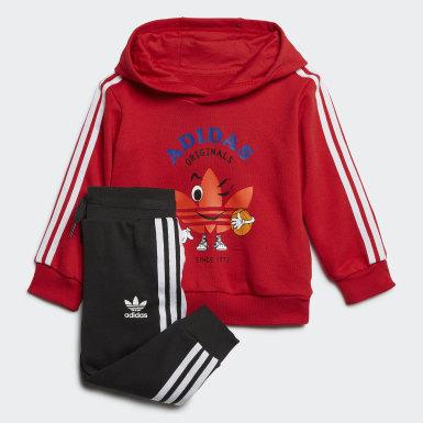 Conjunto sudadera con capucha y pantalón Rojo Niño Originals