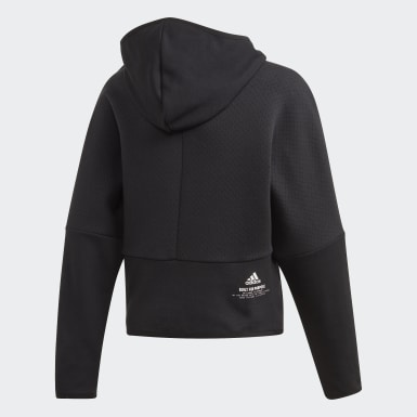 Hoodie adidas Z.N.E. Loose Full-Zip Nero Ragazza Training