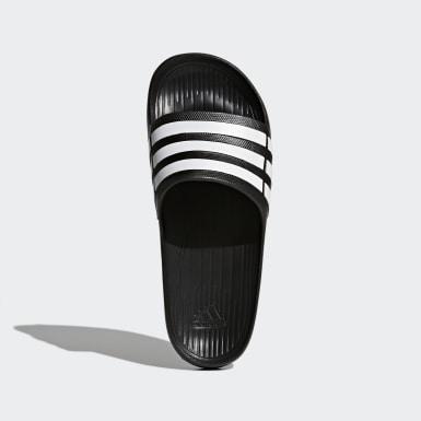 Men Swimming Black Duramo Slides
