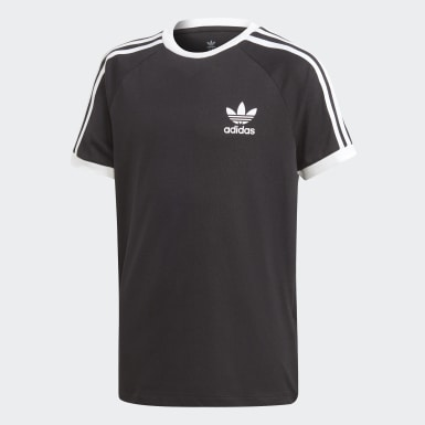 Boys Originals Black 3-Stripes Tee