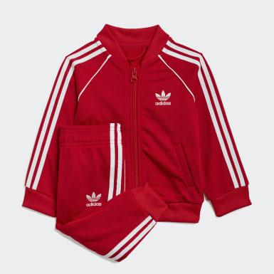 Track suit adicolor SST Rosso Bambini Originals