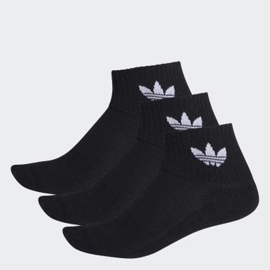 Originals สีดำ ถุงเท้าความยาวครึ่งแข้ง (3 คู่)