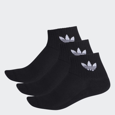 Originals Black Mid-Cut Crew Socks 3 Pairs