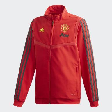 Giacca da rappresentanza Manchester United Rosso Bambini Calcio