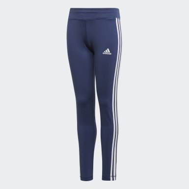Kids Yoga Blue Equip 3-Stripes Tights