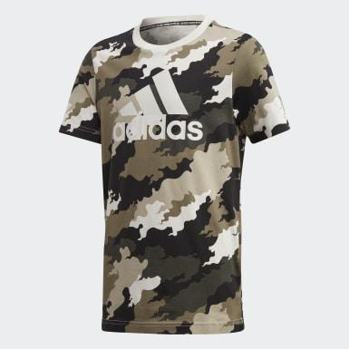 T-shirt Must Haves  Badge of Sport Grigio Ragazzo Training
