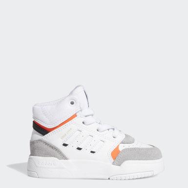 Kids Originals White Drop Step Shoes