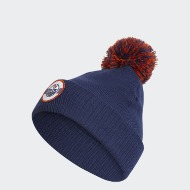 Men Training Multicolor Oilers Stadium Cuffed Pom Beanie