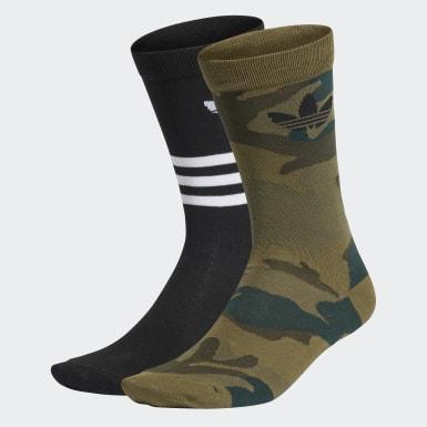 Trefoil Mid-Cut Crew Socks 2 Pairs