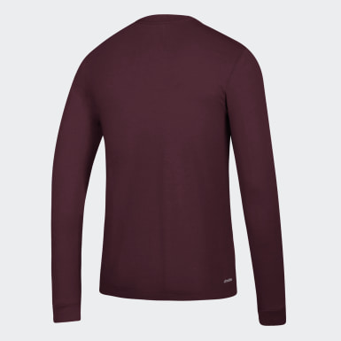 Men's Sport Inspired Burgundy GTP L/S
