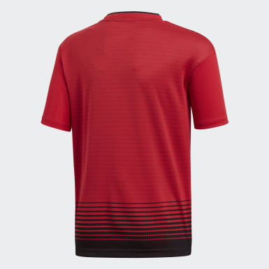 Kids Football Red Manchester United Home Jersey