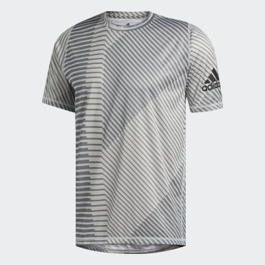 Playera FreeLift Sport Heather Strong Graphic Gris Hombre Training