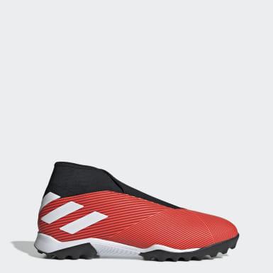 Calzado de Fútbol Nemeziz 19.3 Césped Artificial Rojo Mujer Fútbol