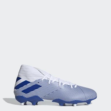 Football White Nemeziz 19.3 Firm Ground Boots