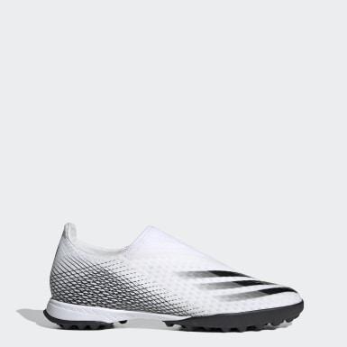 Fodbold Hvid X Ghosted.3 Laceless Turf støvler