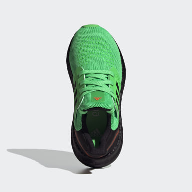 Children Running Green Ultraboost 20 Shoes