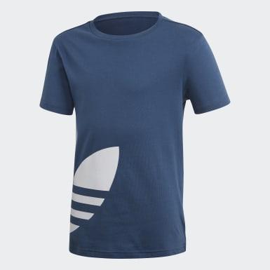 เด็ก Originals สีน้ำเงิน เสื้อยืด Big Trefoil