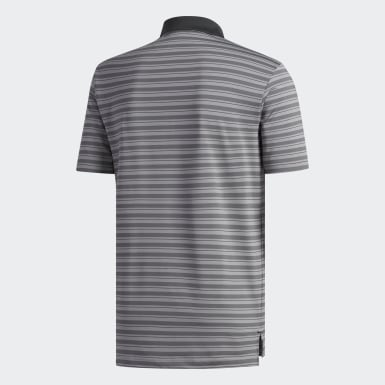 Men's Golf Grey Ultimate365 3-Color Stripe Polo