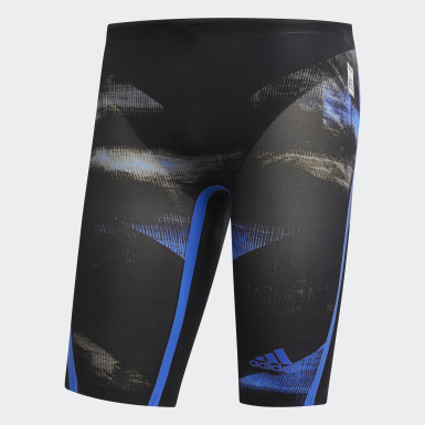 Men Swimming Black Adizero XVIII Breaststroke Jammer