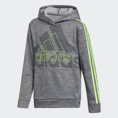 Children Training Grey Statement Badge of Sport Hoodie