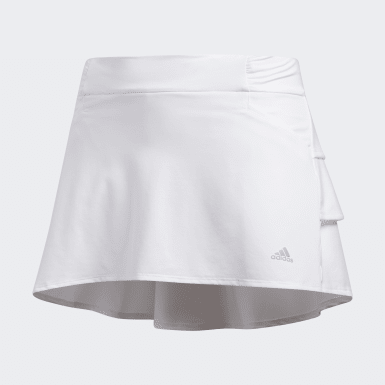 Girls Golf White Ruffled Skort