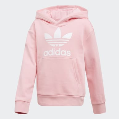 Children Originals Pink Trefoil Hoodie Set