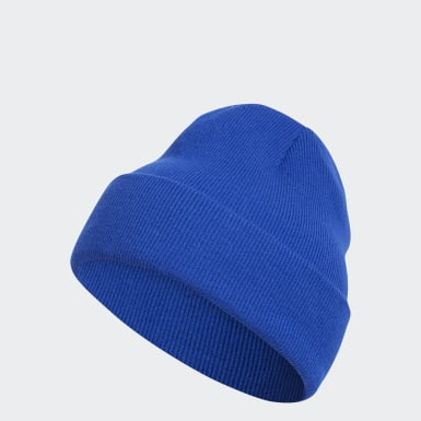 Men's Training Blue Cuffed Knit Beanie