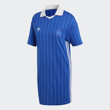 Vestido Fashion League Pinstripe Azul Mujer Originals