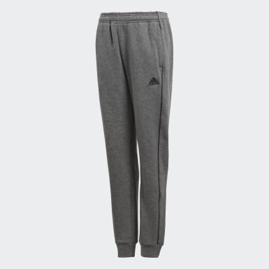 Kids Football Grey Core 18 Sweat Tracksuit Bottoms