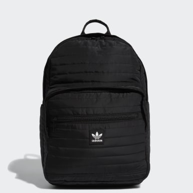 Originals Black Quilted Trefoil Backpack