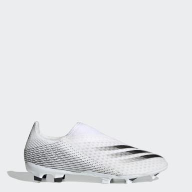 ผู้ชาย ฟุตบอล สีขาว รองเท้าฟุตบอล X Ghosted.3 Laceless Firm Ground