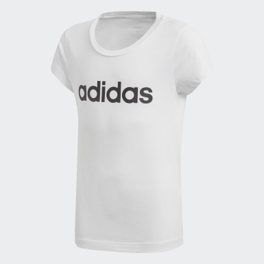 Mädchen Athletics Essentials Linear T-Shirt Weiß