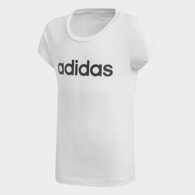 Dívky Athletics bílá Tričko Essentials Linear