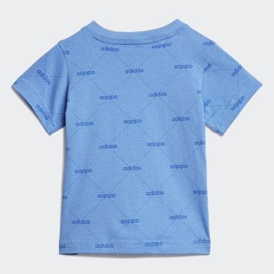 Polo Linear Graphic Azul Niño Sport Inspired