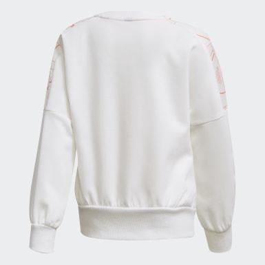 Sweatshirt de Malha Branco Raparigas Treino