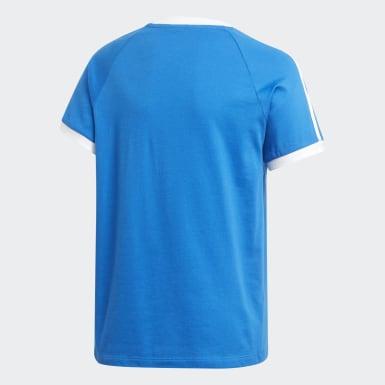 Polera 3 Tiras Azul Niño Originals