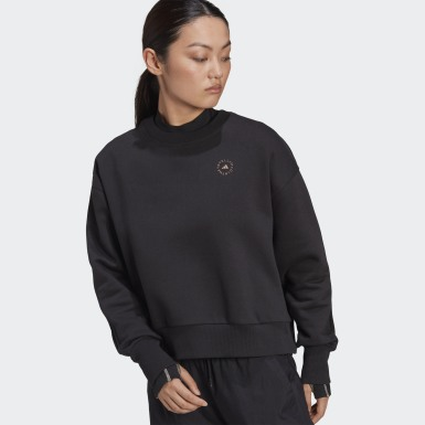 Felpa Nero Donna adidas by Stella McCartney