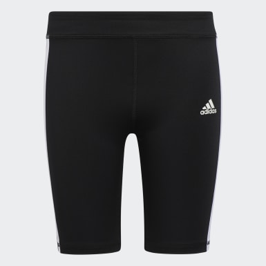 Short 3-Stripes Classic Bike noir Adolescents Entraînement