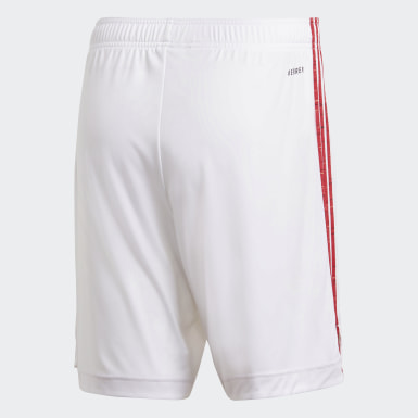 Shorts Local Manchester United 20/21 Blanco Hombre Fútbol