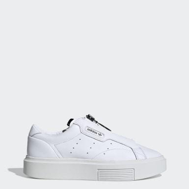 Women Originals White adidas Sleek Super Zip Shoes
