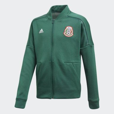 Chamarra Mexico adidas Z.N.E. Verde Niño Fútbol