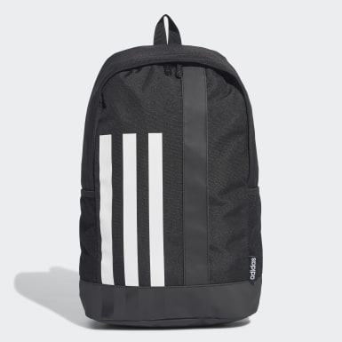 Lifestyle Black 3-Stripes Linear Backpack