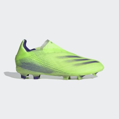 Children Soccer Green X Ghosted+ Firm Ground Cleats