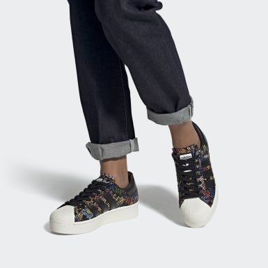 Women's Originals Black Superstar Bold Shoes