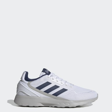 Men Sport Inspired White Nebzed Shoes