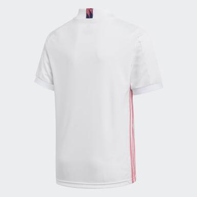 เด็กผู้ชาย ฟุตบอล สีขาว เสื้อฟุตบอลชุดเหย้า Real Madrid 20/21