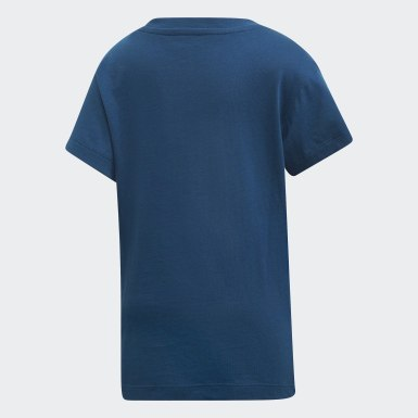 Boys Originals Blue Trefoil Tee