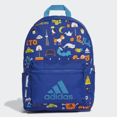 เด็ก เทรนนิง สีน้ำเงิน กระเป๋าเป้คลาสสิกพิมพ์ลาย Cleofus